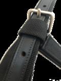 Extra sterk zwart nylon halster detail