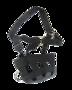 Anti graasmasker met halster zwart