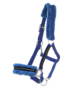 Halster met 'bont' en glitters blauw